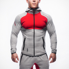 Beli Jirouxiongdi Musim Dingin Baru Pria Kebugaran Pakaian Workout Kaos Sweater Abu Abu Merah Online