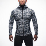 Harga Jirouxiongdi Musim Dingin Baru Pria Kebugaran Pakaian Workout Kaos Sweater Kamuflase Abu Abu Tiongkok