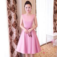Diskon Produk Qianyuangang Gaun Pengapit Wanita Pendek Fashion Pas Badan Banyak Model Bagian B Merah Muda 522