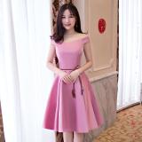 Ulasan Mengenai Qianyuangang Gaun Pengapit Wanita Pendek Fashion Pas Badan Banyak Model D Model Merah Muda 522