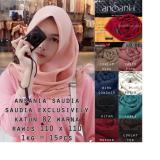Promo Saudia Exclusively Ansania Rawis Square Hijab Segiempat Original Polos Saudia Terbaru