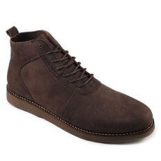 Sauqi Brodo Sepatu Casual Pria - Kulit Asli Brown