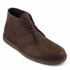 Sauqi Footwear Chuka Sepatu Boots Pria Kulit Asli (CH) - Cokelat