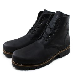 Review Sauqi Footwear Hand Made Leather Boots Classic Gantleman Shoes All Season Black
