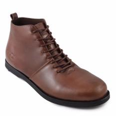 Review Toko Sauqi Footwear New Signore Sepatu Casual Formal Tinggi Tali Boots Pria Kulit Asli Coklat