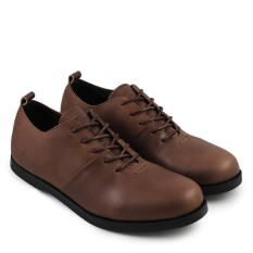 Sauqi Footwear New Vegas Sepatu Casual Formal Kulit Asli - Coklat