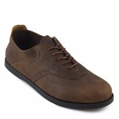 Sauqi Footwear Spancer Sepatu Formal Sneakers Pria Kulit Asli Kantor Kuliah Olive Asli
