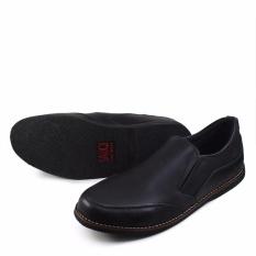 Review Sauqi Jeger Sepatu Slip On Pria Slop Kulit Asli Black Sauqi Footwear Di Jawa Barat