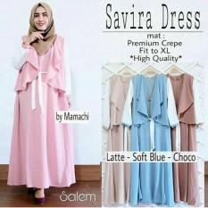 Savira Dress/Savira Gamis/Savira Maxi/Gamis Wolfis Murah/Baju Panjang Muslim Cantik/Gamis Lebaran
