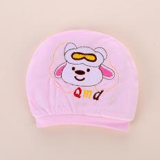 Sayang Katun Lebih Tebal Sayang Anak Yang Baru Lahir Topi Bayi Topi (Ukuran + Kacamata Anjing Merah Muda)