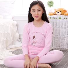 Baju Musim Gugur Katun Gadis Pakaian Dalam Ketebalan Sedang Sayang (Ketebalan Sedang Model Air Anak Perempuan Pink)