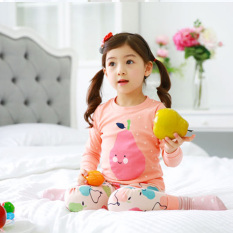 Sayang Korea Anak Model Musim Semi Anak Perempuan Jaket AC 2Pcs/Set Dimuat (Oranye)