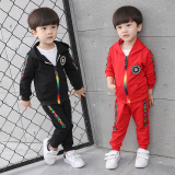 Review Sayang Korea Fashion Style Anak Laki Laki Model Musim Semi Baru Set Merah Tiongkok