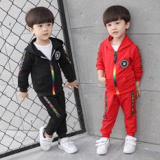 Toko Sayang Korea Fashion Style Anak Laki Laki Model Musim Semi Baru Set Merah Dekat Sini
