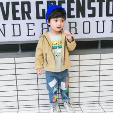 Sayang Korea Modis Gaya Baru Children Jaket Baseball Jaket Berkerudung Jaket Jas (M Kacang Jas Kuning)