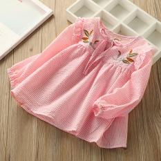 Sayang Korea Fashion Style Bordir Baru Bayi Blus Baby Doll Gadis Atasan (Pink)
