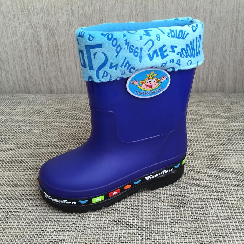 Bandingkan Toko Anak-anak sepatu boots hujan Pria dan wanita anak Penghangat Anti Selip sepatu