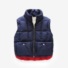 Spesifikasi Tahun Bayi Berusia Beludru Musim Dingin Yang Hangat Lebih Tebal Pakaian Musim Dingin Pakaian Musim Vest Anak Anak Rompi Biru Tua Oem Terbaru