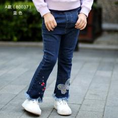 Toko Sayang Musim Semi Dan Musim Gugur Anak Pakaian Anak Perempuan Klakson Celana Anak Jeans Sebuah Model 80037 Biru Lengkap Tiongkok