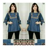 Dimana Beli Sb Collectio Atasan Blouse Arneta Jumbo Jeans Songket Biru Tua Sb Collection