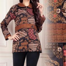 Promo Sb Collection Atasan Arin Batik Blouse Kemeja Coklat Tua Di Indonesia