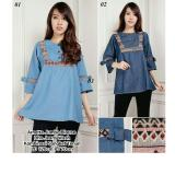 Jual Beli Sb Collection Atasan Arnetta Jumbo Blouse Jeans Biru Muda