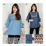 Beli Sb Collection Atasan Arnetta Jumbo Blouse Jeans Biru Muda Tua