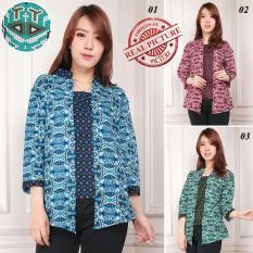 Toko Sb Collection Atasan Blouse Atika Rample Batik Kemeja Hijau Yang Bisa Kredit