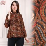 Promo Sb Collection Atasan Blouse Bellina Kemeja Lengan Panjang Batik Wanita Sb Collection