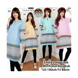 Sb Collection Atasan Blouse Emilia Long Tunik Kemeja Hijau Sb Collection Diskon 40
