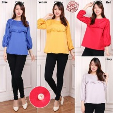 Beli Sb Collection Atasan Blouse Kemeja Wanita Kuning Sb Collection