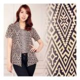 Spesifikasi Sb Collection Atasan Blouse Marlita Batik Kemeja Coklat Murah