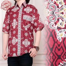 SB Collection Atasan Candra Kemeja Batik Pria - Merah