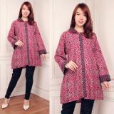 Harga Sb Collection Atasan Gisela Blouse Jumbo Batik Kemeja Wanita Pink Sb Collection