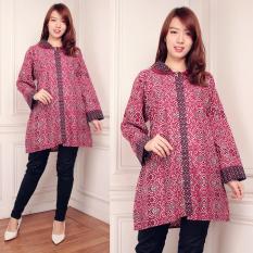 Harga Sb Collection Atasan Gisela Blouse Jumbo Batik Kemeja Wanita Pink Origin