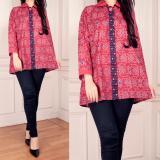 Spek Sb Collection Atasan Jesica Blouse Kemeja Batik Wanita Pink Banten
