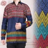 Spesifikasi Sb Collection Atasan Kemeja Favian Lengan Panjang Batik Pria Baru