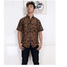 Model Sb Collection Atasan Kemeja Satya Batik Coklat Terbaru
