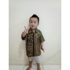 SB Collection Atasan Kemeja Xavi Lengan Pendek Batik Anak Laki-Laki