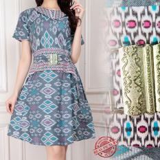 Beli Sb Collection Atasan Midi Dress Bahiya Batik Wanita Kredit Banten