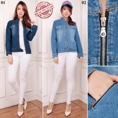 Spesifikasi Sb Collection Atasan Outer Carrissa Jacket Jeans Wanita Biru Tua Dan Harganya