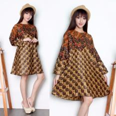 Diskon Sb Collection Atasan Tunik Sari Blouse Kemeja Wanita Batik Coklat Mix
