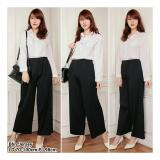 Diskon Sb Collection Celana Anya Kulot Plisket Long Pant Hitam Branded