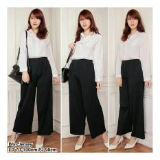 Diskon Produk Sb Collection Celana Anya Kulot Plisket Long Pant Hitam