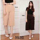 Promo Sb Collection Celana Gita Short Kulot Pant Coklat Akhir Tahun