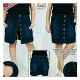 Jual Sb Collection Celana Jeans Full Button Jumbo Hotpant Biru Sb Collection Grosir