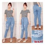 Katalog Sb Collection Celana Jeans Soffa Long Pant Sobek Furing Bordir Biru Terbaru