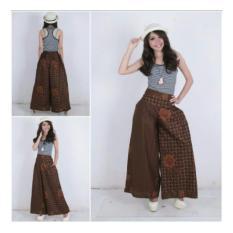 SB Collection Celana Kulot Kinar Long Pant Batik Pagi Sore-Coklat