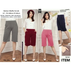 Sb Collection Celana Kulot Pendek Dian Short Pant Navi Terbaru