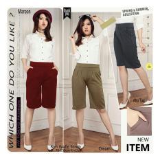 SB Collection Celana Kulot Pendek Trisna Short Pant-Cream